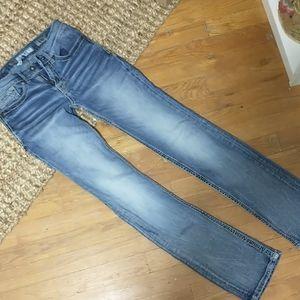 BKE Alec Straight Leg Jeans Buckle Blue Jeans